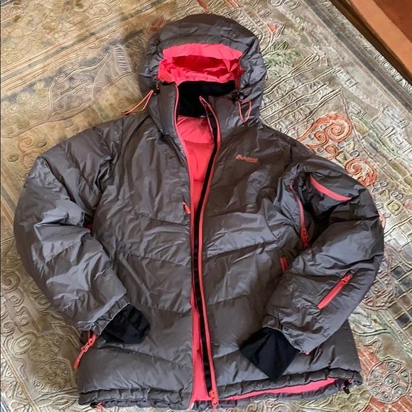 Bergans Sauda Down Lady Jacket, black red, M: